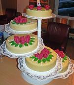 Hochzeitstorte Treppen-Etageren: Classic Marzipan