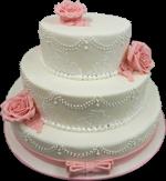 Hochzeitstorte Englischer Aufbau: White Vintage