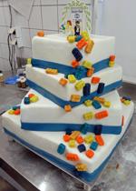 Hochzeitstorte Englischer Aufbau: Lego