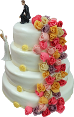 Hochzeitstorte Englischer Aufbau: Blütenmeer