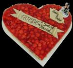 Hochzeitstorte Obsttorten: Kleines Erdbeerherz