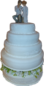 Hochzeitstorte Echte Blumen: Blütenring