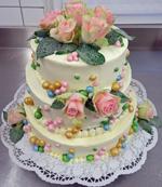 Hochzeitstorte Echte Blumen: Bubbles