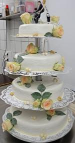 Hochzeitstorte Echte Blumen: Zucker-Rose