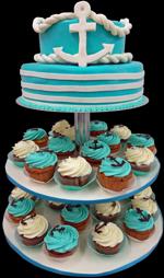 Hochzeitstorte Cupcake-Kombinationen: Alsterperle