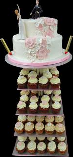 Hochzeitstorte Cupcake-Kombinationen: Reich mir die Hand