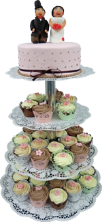 Hochzeitstorte Cupcake-Kombinationen: Red Velvet