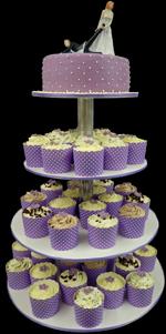 Hochzeitstorte Cupcake-Kombinationen: Lilac Temptation