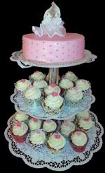 Hochzeitstorte Cupcake-Kombinationen: Cupcake-Arrangement Tauben