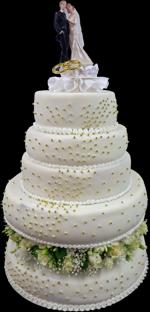 Hochzeitstorte Echte Blumen:  Blütenring-II