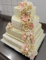 Hochzeitstorte Englischer Aufbau: Pastel & Lace