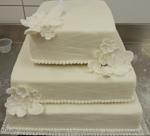 Hochzeitstorte Englischer Aufbau: White Notched