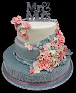 Hochzeitstorte Englischer Aufbau: Mr & Mrs Grey