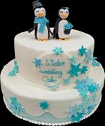 Hochzeitstorte Englischer Aufbau: Winter Wedding