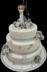 Hochzeitstorte Englischer Aufbau: Silberhochzeit