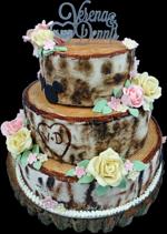 Hochzeitstorte Englischer Aufbau: WeddingTree
