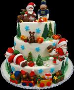 Hochzeitstorte Englischer Aufbau: X-Mas Wedding Cake