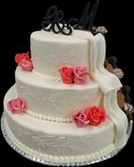 Hochzeitstorte Englischer Aufbau: Black And White Bueno