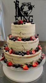 Hochzeitstorte Englischer Aufbau: Semi-Naked Wedding Cake (classic)