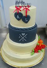 Hochzeitstorte Englischer Aufbau: Sweet Heart Family