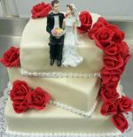 Hochzeitstorte Englischer Aufbau: Shifted Square