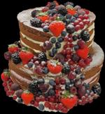 Hochzeitstorte Englischer Aufbau: Naked Cake