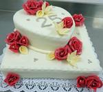 Hochzeitstorte Englischer Aufbau: Siverheart